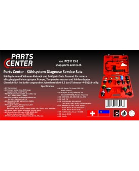 parts-center - Kühlsystem Diagnose Service Satz